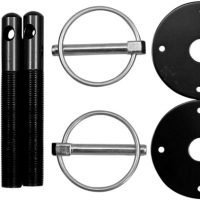 PPM64-208B Hood Pin Kit - Black - One Pair-0